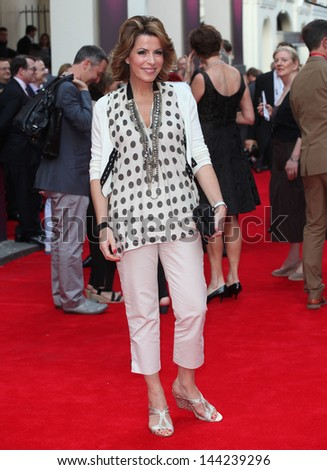 Natasha Kaplinsky arriving for the Charlie And The Chocolate Factory Press Night, at Theatre Royal, London. 25/06/2013