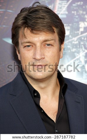 Nathan Fillion at the Los Angeles premiere of 'The Amazing Spider-Man' held at the Regency Village Theatre in Westwood on June 28, 2012.
