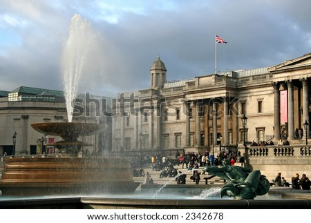 National Art Gallery - London - stock photo
