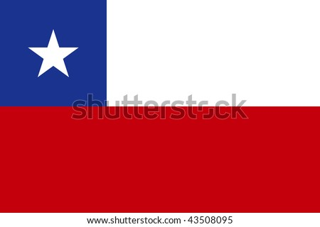 National Flag Chile - stock photo