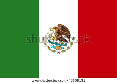 National Flag Mexico - stock photo