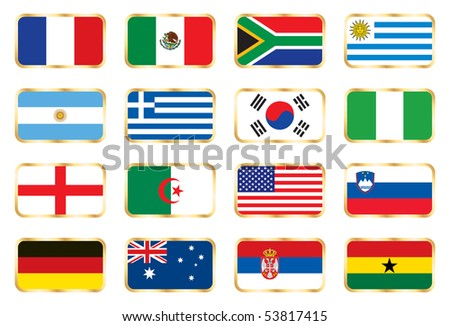 National flag mix set 1. JPEG version