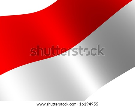 National Flag. Monaco