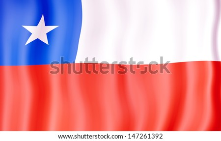 National flag of Chile - stock photo