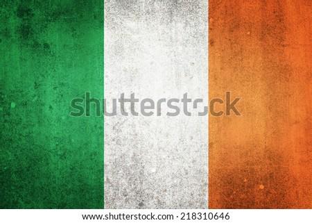 National flag of Ireland. Grungy effect. - stock photo