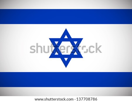National flag of Israel with correct proportions and color scheme (raster illustration) - stock photo