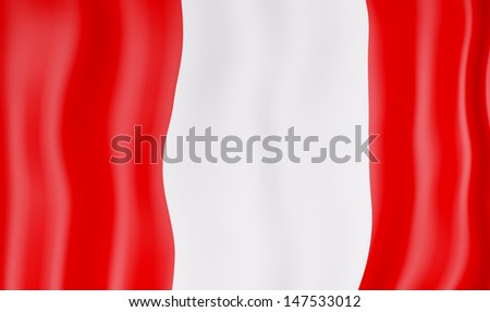 National flag of Peru - stock photo