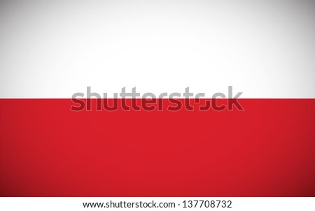 National flag of Poland with correct proportions and color scheme (raster illustration) - stock photo