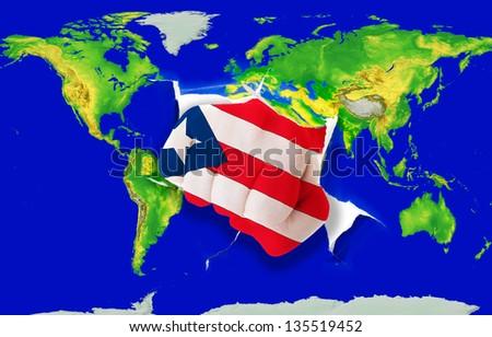 national flag of puertorico - stock photo