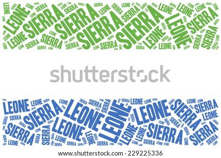 National flag of Sierra Leone. Word cloud illustration. - stock photo
