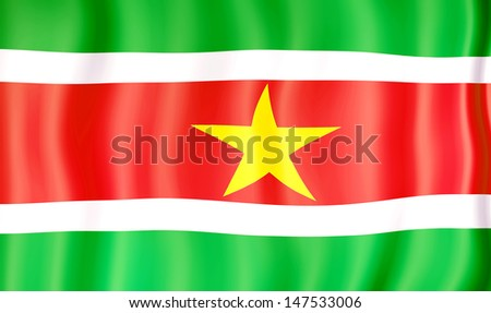 National flag of Suriname - stock photo
