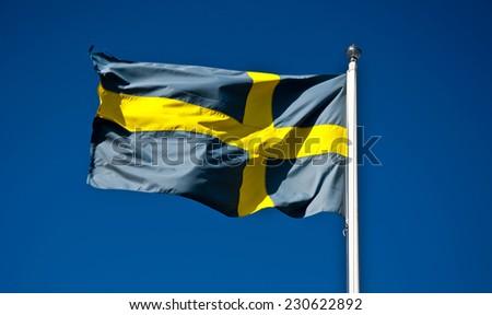 National Flag of Sweden - stock photo