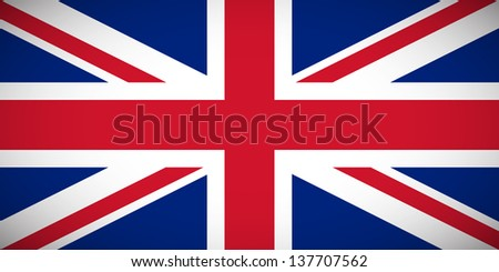 National flag of the United Kingdom of Great Britain and Northern Ireland with correct proportions and color scheme (raster illustration) - stock photo
