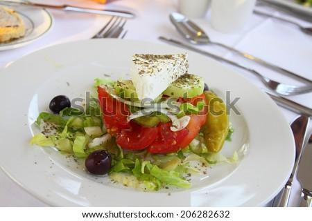 National Greek salad - stock photo