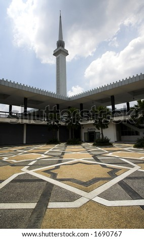 National Mosque, Kuala Lumpur - stock photo
