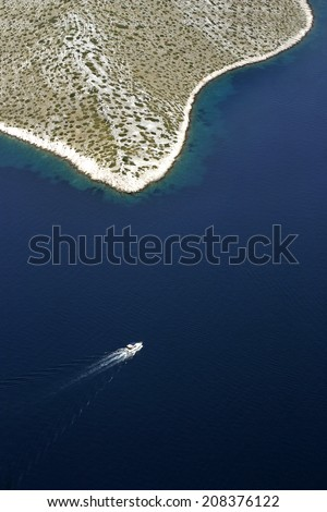 National park Kornati, Kornati archipelago, Adriatic sea in Croatia - stock photo