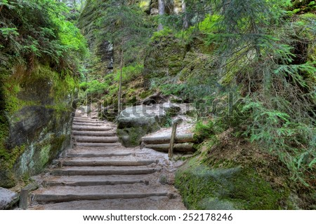 National Park of Adrspach-Teplice rocks. Rock Town. Czech Republic - stock photo