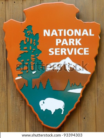 National Park Service arrowhead logo - stock photo