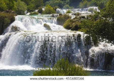 National Park Waterfalls Krka in Dalmatia Croatia Europe - stock photo