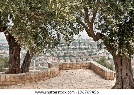 national park Zippori (Tsipori). Israel - stock photo