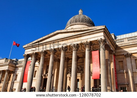 National portrait gallery and Trafalgar Square