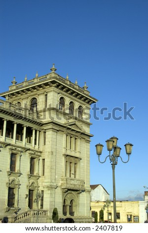 national presidential palace guatemala city central america - stock photo