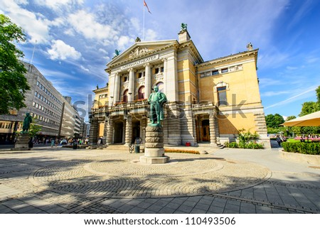National theatre, Oslo - stock photo