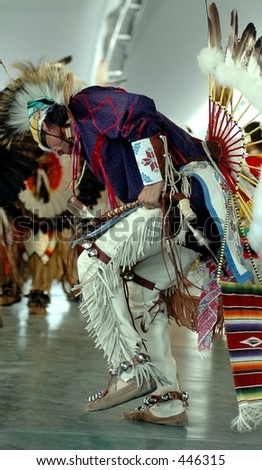 native American dancer,Niagara Falls,New York - stock photo