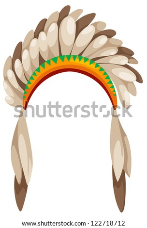 native american headdress .JPG (EPS vector version id 121534783,format also available in my portfolio) - stock photo