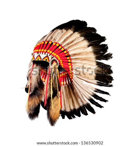 Native american indian chief headdress indian chief mascot indian