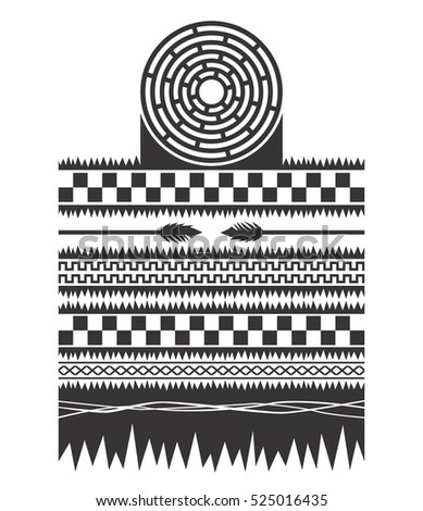 Native American Pattern Cherokee Navajo Apache Stock Illustration