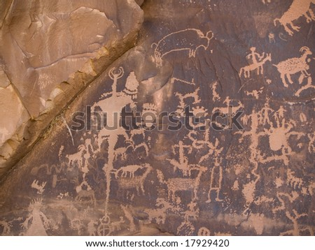 Native American petroglyph, Newspaper Rock, Utah