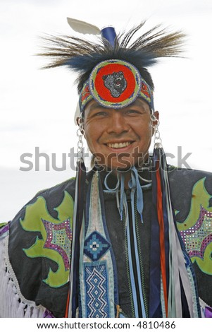 native dancer portrait - stock photo
