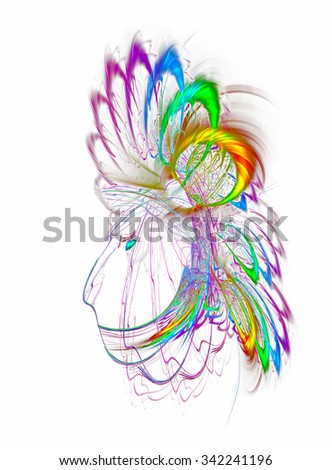 Native Indian Portrait abstract illustration - stock photo