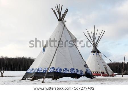 Native Indian tee-pee - stock photo