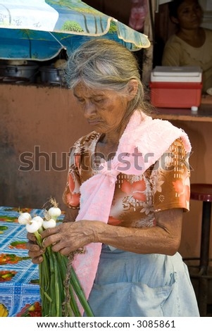 Native Pipil indian from the village of nahuizalco in El Salvador - stock photo