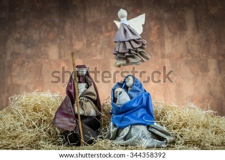 nativity - stock photo
