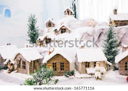 Nativity Scene - Christmas Time - stock photo