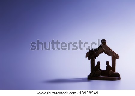 nativity scene ornament - stock photo