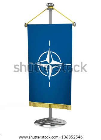 Nato 3d desk flag isolated