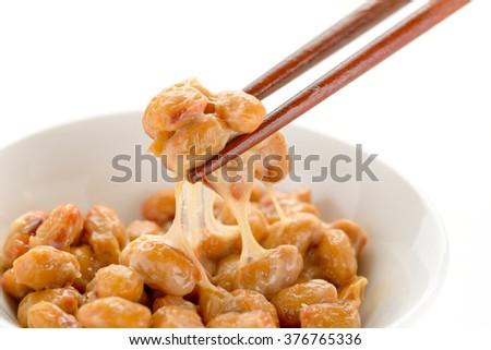 natto japanese food - stock photo