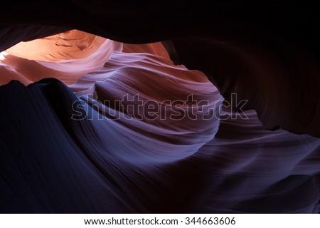 Natural Abstract from Antelope Slot Canyon - stock photo