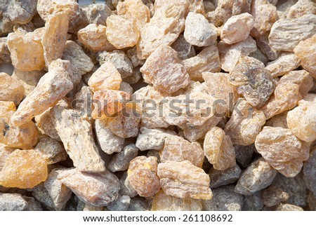 Natural amber stone - stock photo