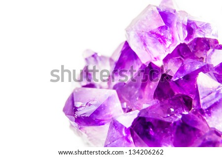 Natural amethyst. Photo Close-up - stock photo