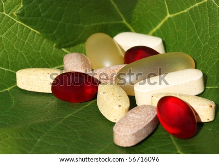Natural and healthy dietary supplement - stock photo