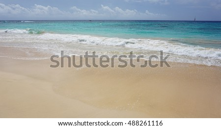 natural and lonely beach on cape verde