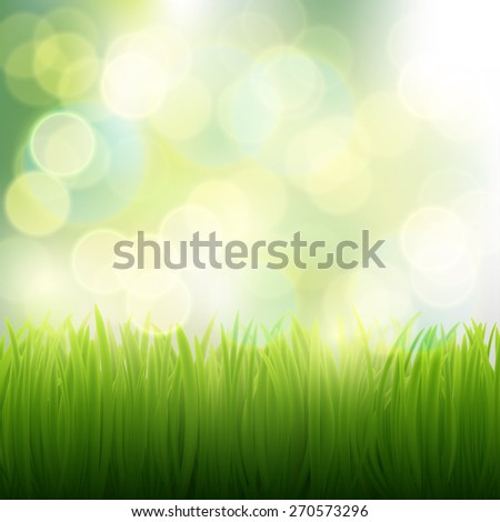 natural background of grass - stock photo