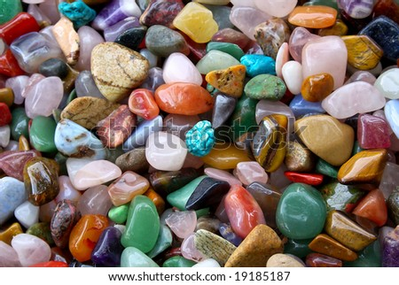 natural background - pile of semi precious jewelery stones closeup. best for craftsmanship, interior design, gift