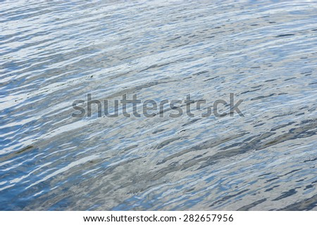Natural background - waves on a spring river