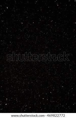 Natural Background With Black Night Starry Sky And Many Stars